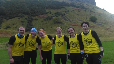 The Yardies running at Men's Health's Survival of the fitest in Edinburgh