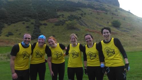 The Yardies running at Men's Health's Survival of the fitest in Edinburgh