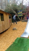 The Yard is looking colourful thanks to new woodchips