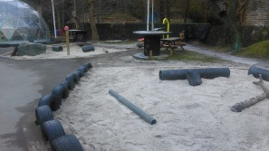 The sand has been topped-up in our giant sandpit