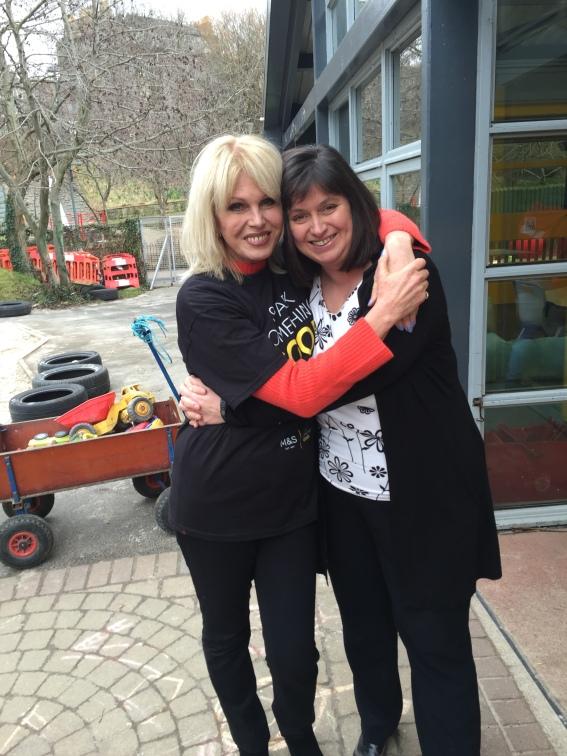 Joanna Lumley with The Yard's CEO, Celine Sinclair.