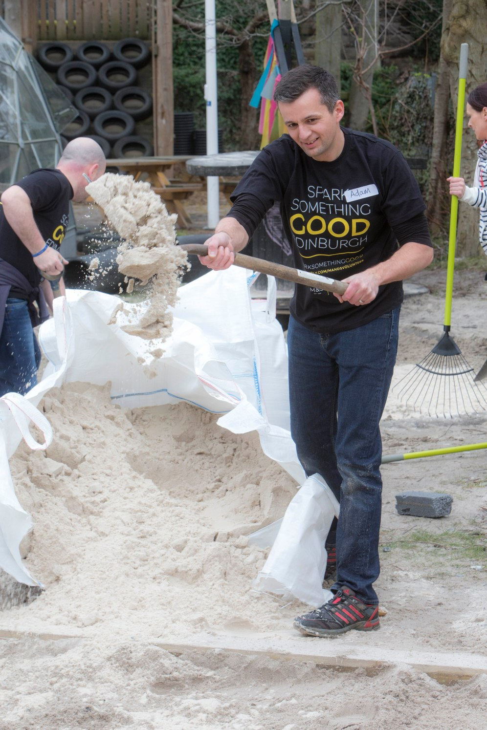 M&S volunteers created a world of difference at The Yard, Edinburgh for the #Sparksomethinggood campaign